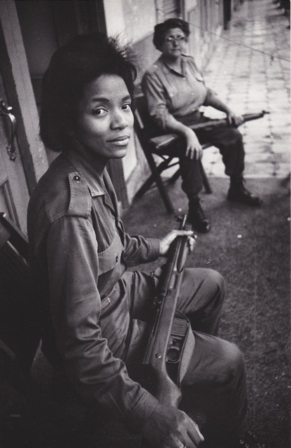 , 'Building managers, Havana - Woman with a machine gun, Havana (Cuba series),' 1962, Galerie Nathalie Obadia