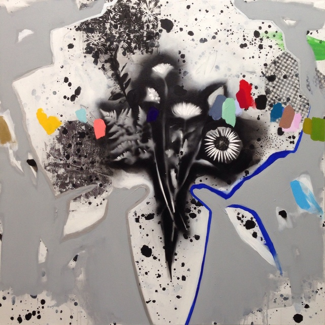 , 'Black + White Bouquet (splatter),' 2018, Kahn Gallery