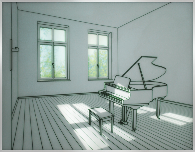 , 'Piano in a room,' 2015, Artside Gallery