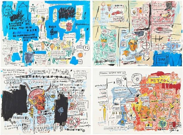 Jean-Michel Basquiat, 'Ascent, Olympic, Leeches, and Liberty', 1982-83/2017, Print, Portfolio of four screenprints, Hamilton-Selway Fine Art