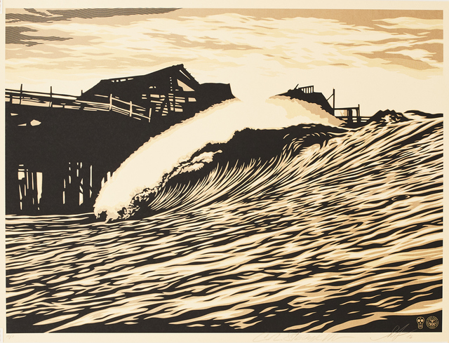 Shepard Fairey (OBEY), 'Water is The New Black', 2015, Sping/Break Benefit Auction