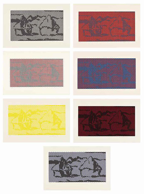 Roy Lichtenstein, 'HAYSTACK #1-7', 1969, Print, Six lithograph and screenprints in colors, on Rives BFK paper, and one relief print on wove paper., Marcel Katz Art