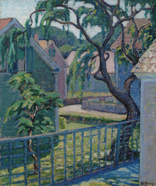 Gladys G. Young, 'Backyard Scene', Painting, Oil on canvas, Vose Galleries
