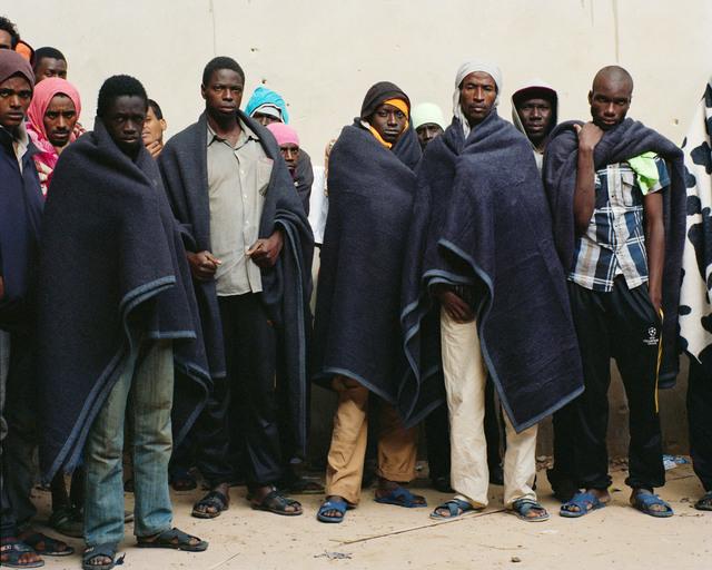 , 'Série Les Naufragés, Centre de détention pour migrants de Zaouia (Libye) ,' 2014, Galerie Les filles du calvaire