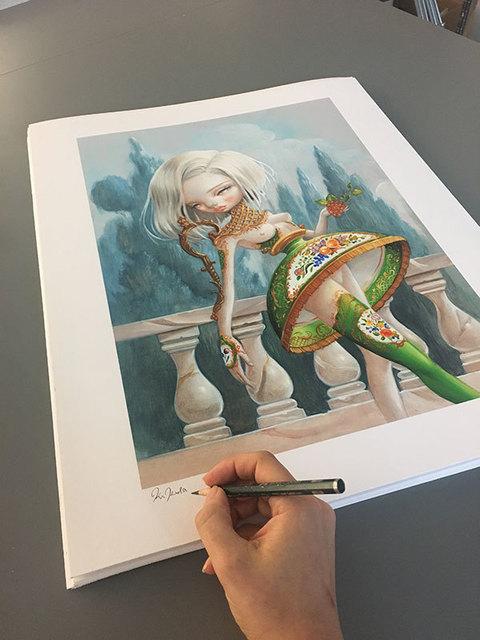 "Kukula, '""Keylime Parfait"" print', 2017, Print, Giclee on Rives BFK paper, Haven Gallery"