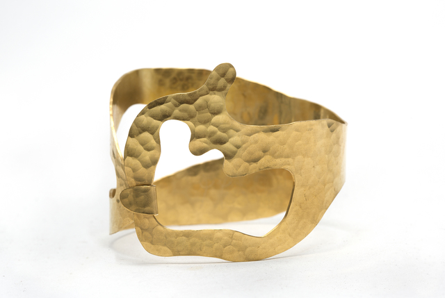 ", '""Rhea"" BRACELET gold plated and Hand Hammered By Jacques Jarrige,' 2016, Valerie Goodman Gallery"