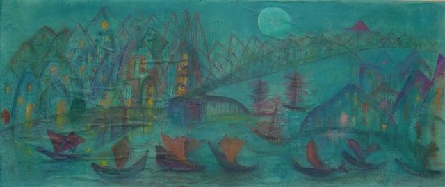 , 'Ciudad a la luz de la luna,' 1948, Oscar Roman