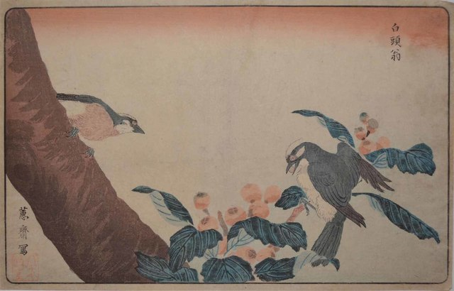 , 'Two Gray Starlings,' ca. 1790, Ronin Gallery