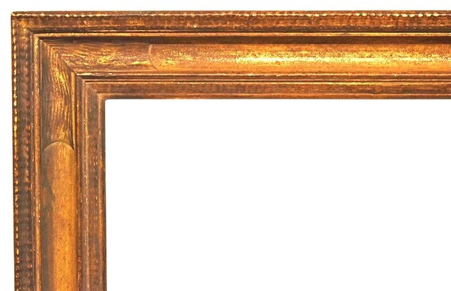 , 'Newcomb-Macklin Arts & Crafts Metal Leaf Frame, 1930's (25x31),' 1930-1939, Susquehanna Antique Company