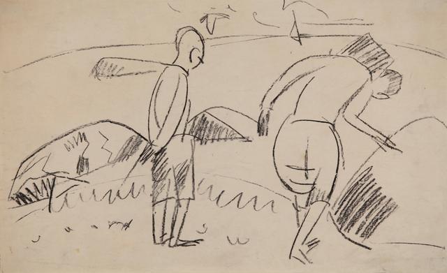 , 'Menschen am Ufer,' ca. 1912, Henze & Ketterer & Triebold