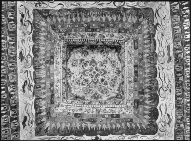 , 'Ceiling, Mogao Cave 387, dated High Tang dynasty (705– 780). Dunhuang, Gansu province. The Lo Archive,' Photograph taken in 1943-44, Princeton University Art Museum
