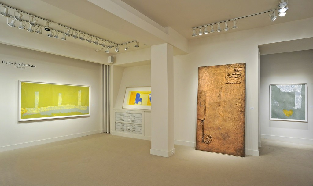 Helen Frankenthaler installation at Meyerovich Gallery, SF