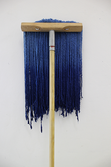 , 'lower your ambitions (blue),' 2015, ChertLüdde
