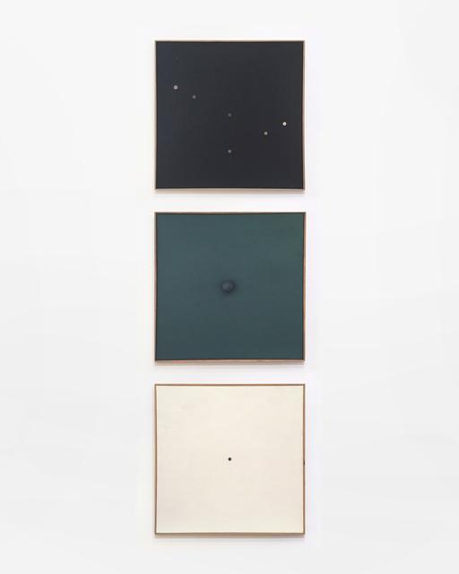 , 'Schwarzes Bild mit kleinen Lochern, Monochrome Relation, Weisse Bild Mit Kleinem Loch,' 1958-1959, The Mayor Gallery