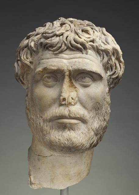 'Portrait of a Bearded Man', 140 -160, J. Paul Getty Museum