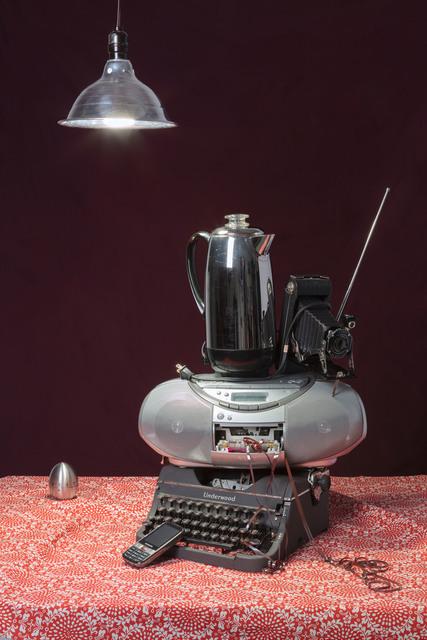 , 'Gray Typewriter,' 2015, KLOMPCHING GALLERY
