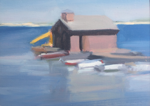Diana Horowitz, 'Small Fishing Wharf', 2017, Painting, Oil on Linen, The Schoolhouse Gallery