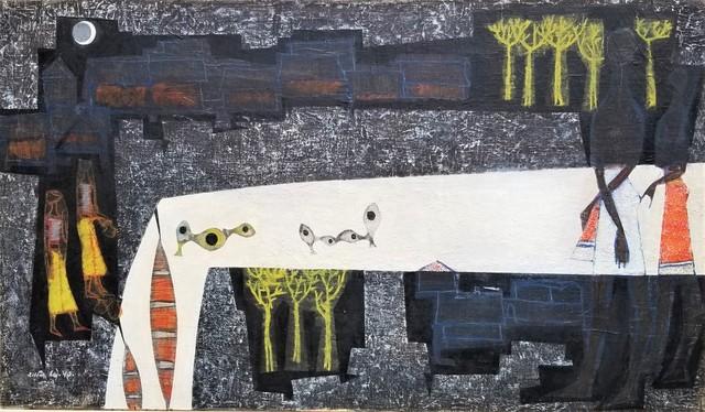 Shanti Dave, 'Village on the Riverbank', 1949, Clarke Gallery