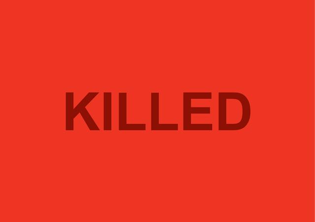 , 'Killed,' 2015, A Gentil Carioca