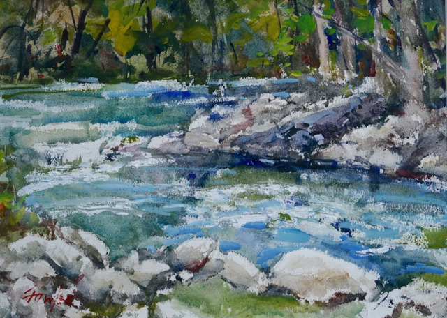 , 'Guadelupe Rapids,' 2018, Wally Workman Gallery