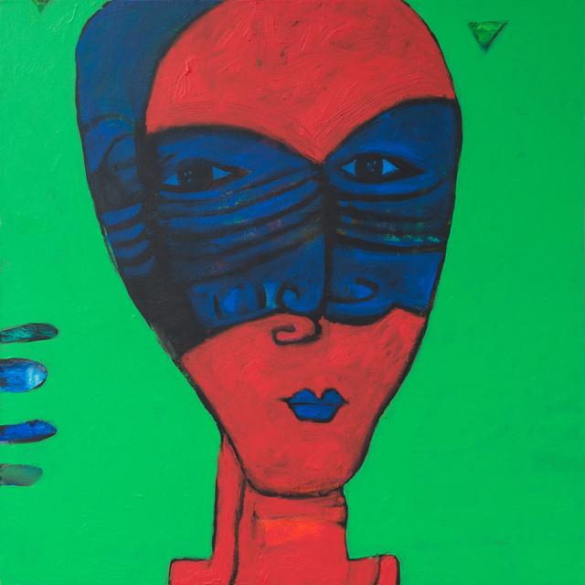, 'The Blue Mask / القناع الازرق,' 2018, al markhiya gallery