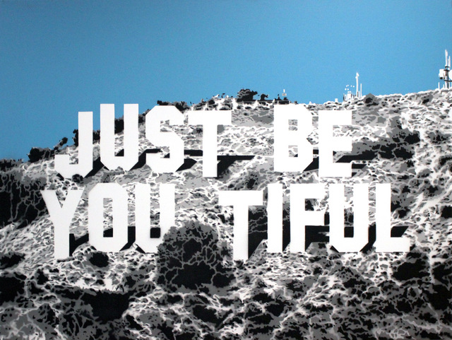Rich Simmons, 'Rich Simmons, Just Be You Tiful Hollywood Hills (blue edition)', 2017, Oliver Cole Gallery
