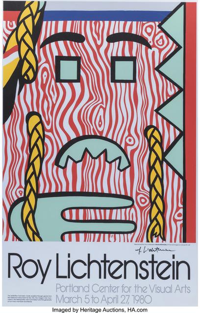 Roy Lichtenstein, 'Head with Braids exhibition poster', 1980, Heritage Auctions