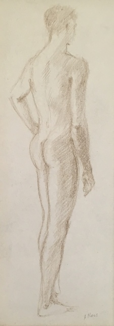 , 'Male Standing from Behind,' Mid 20th c., Bakker Gallery