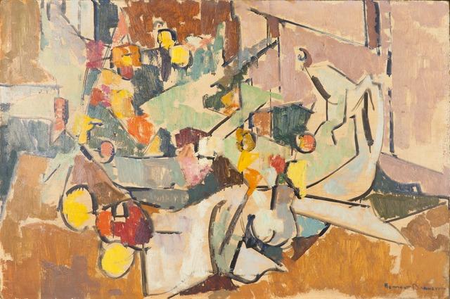 Herbert Barnett, 'Abstract Still Life with Pitcher, Bowl of Flowers, Creamer', Childs Gallery