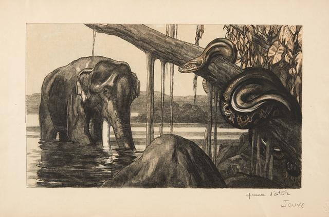 Paul Jouve, 'Eléphant et python', 1948, Aubert Jansem Galerie
