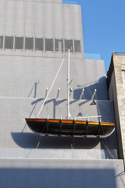 ", 'Ghost Ship. Installation view, ""Chris Burden: Extreme Measures"" at New Museum, New York, 2013,' 2005, New Museum"