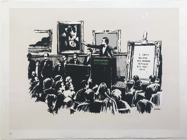 Banksy, 'Morons - Unsigned ', 2007, Hang-Up Gallery