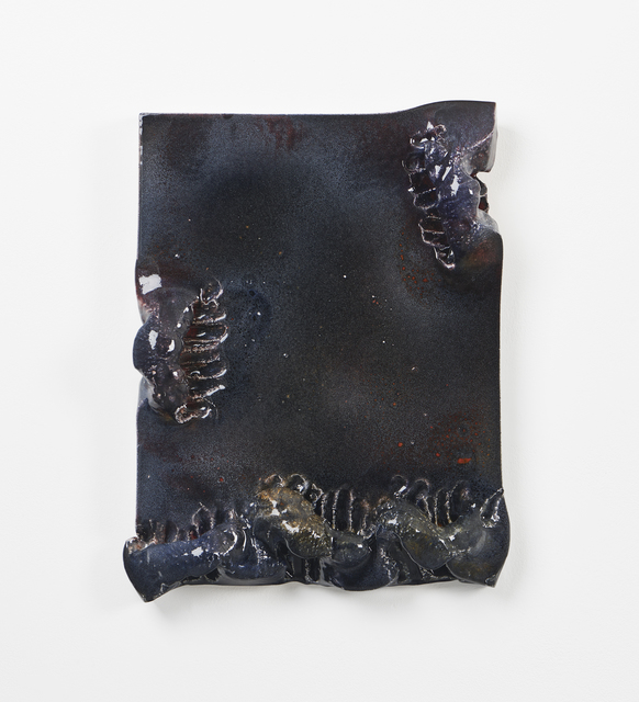 , 'On the coral pillow, two streams of tears. Half longing for you, half resenting you,' 2016, Simon Lee Gallery