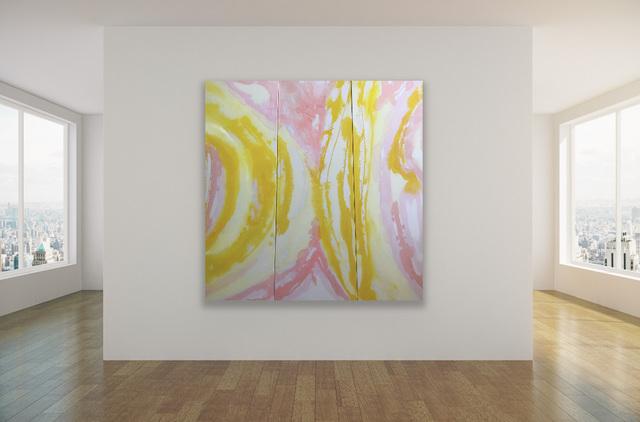 CASIMIRA, 'La Primavera, Triptych', 2021, Painting, Ink, acrylic on raw, untreated heavyweight cotton canvas, Latela Curatorial