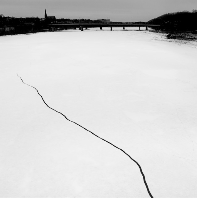 , 'Ice crack in a frozen river. Bangor, Maine. USA.,' 2016, Magnum Photos