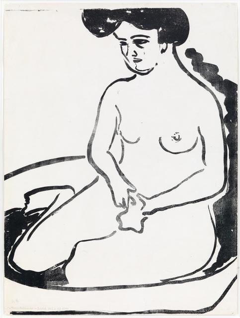 , 'Großer Mädchenakt in Badetub,' 1909, Dierking