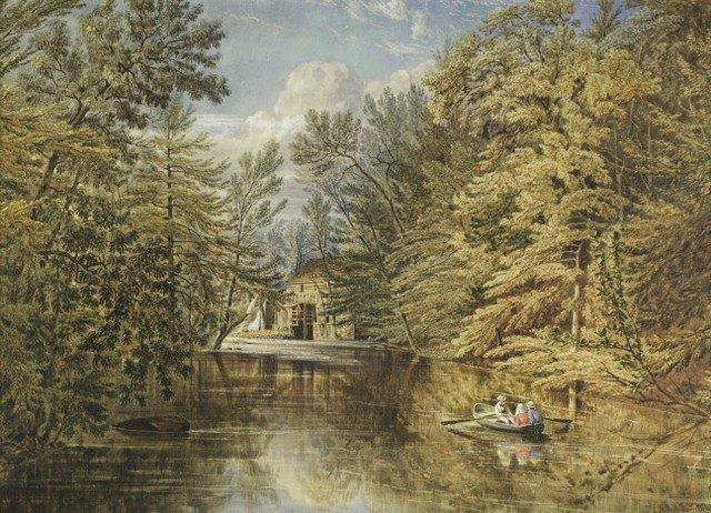 , 'Boating on the Old Croton Reservoir, NY,' 1851, Questroyal Fine Art
