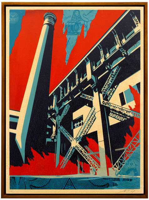 Shepard Fairey (OBEY), 'Fossil Factory', 2017, Galerie Ernst Hilger