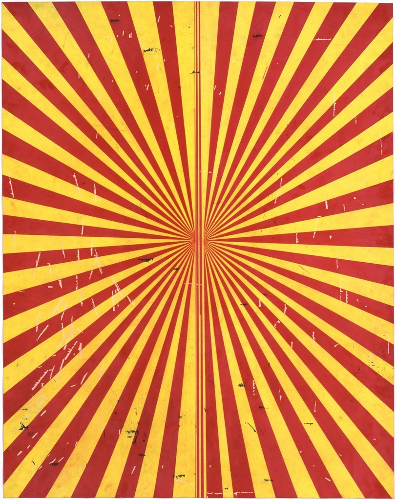 Untitled (Crimson Red and Canary Yellow Butterfly 796)