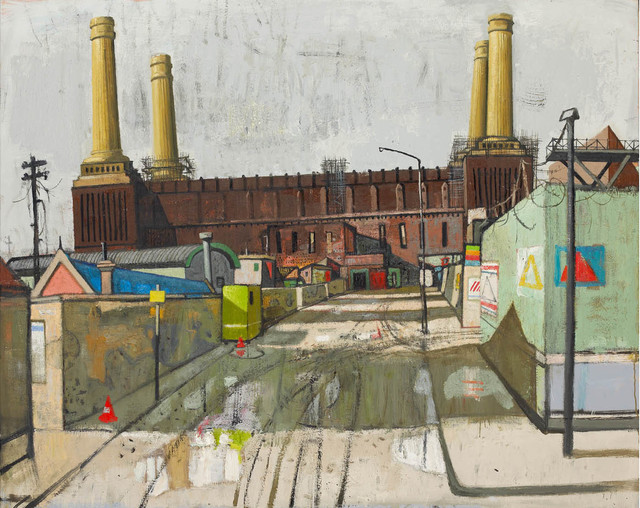 , 'Composition I with Power Station,' 2013, John Martin Gallery