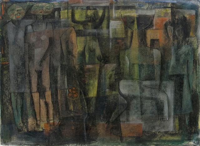 , 'Untitled (Abstract Figures),' ca. 1949, Aaron Payne Fine Art