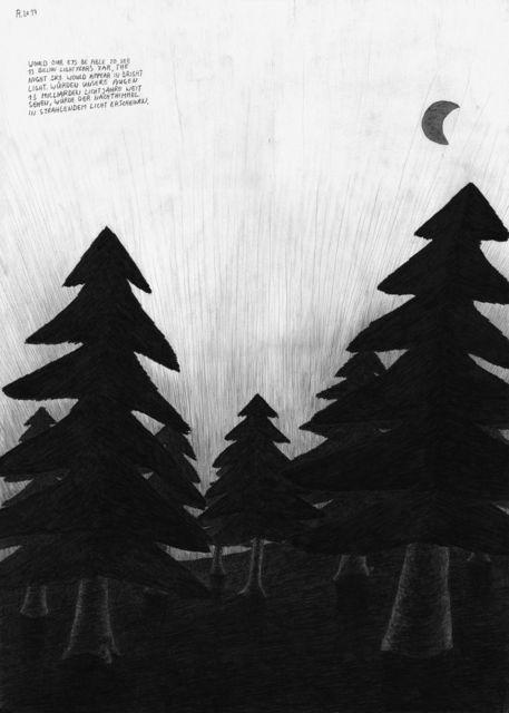 , 'Untitled (from the series: Die gezeichneten Ausstellungen),' 2017, Galerie Krinzinger
