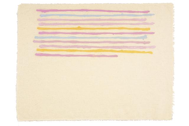 Giorgio Griffa, 'Linee orizzontali', 1973, Valmore Studio d'Arte