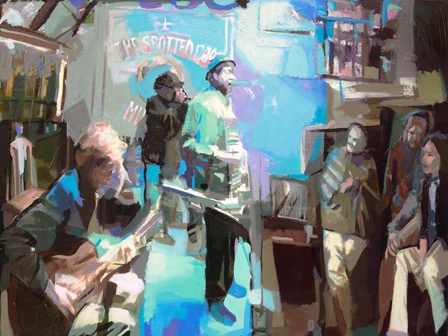 , 'Shades of Blues,' , Copley Society of Art