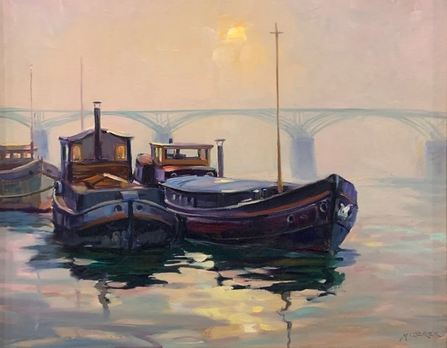 , 'Fog Lifting on the Seine,' 2019, The Guild of Boston Artists