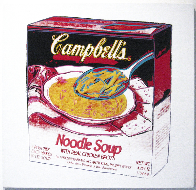 , 'Campbell's Soup: Noodle Soup Box,' 1986, Joseph K. Levene Fine Art, Ltd.