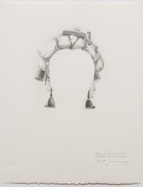 , ''Equine Impedimenta' - Tully's Burden (back),' 2017, Australian Galleries