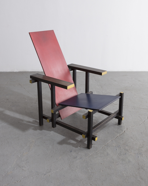 , 'Red Blue Chair. Designed by Gerrit Rietveld, 1919,' 1950, R & Company