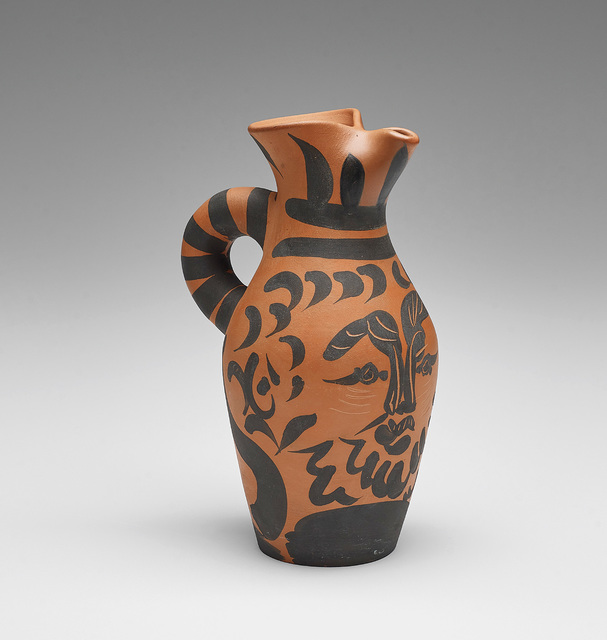 Pablo Picasso, 'Yan Barbu (Bearded Yan)', 1963, Design/Decorative Art, Red earthenware turned pitcher, with black engobe and partial engraving., Phillips