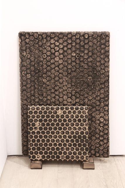 , 'Black Monochrome (Bubble Wrapped),' 2017, Pierogi